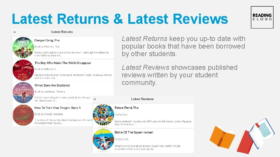Latest Returns & Latest Reviews Latest Returns keep you up-to date with popular books