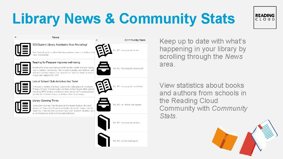 Library News & Community Stats Keep up to date with what's happening in your