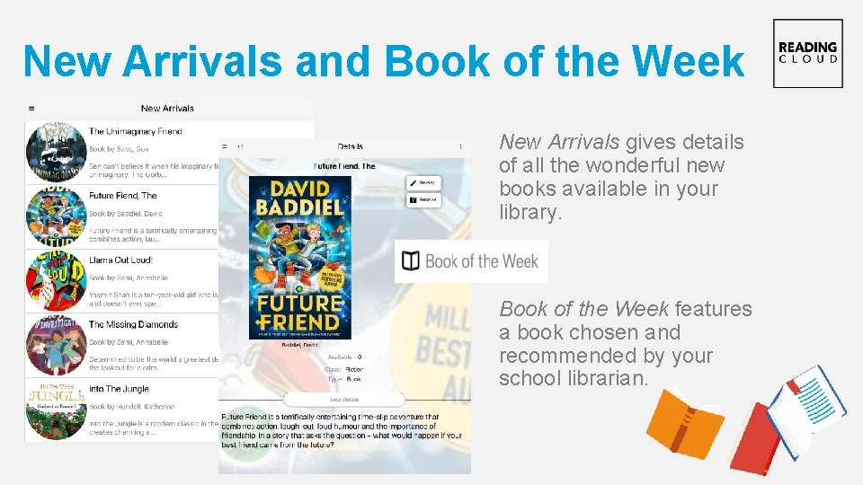 New Arrivals and Book of the Week New Arrivals gives details of all the
