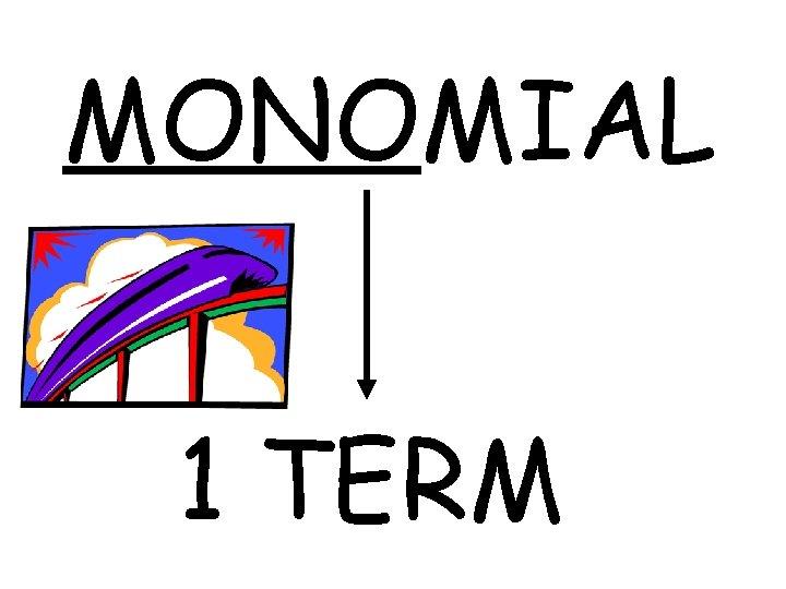 MONOMIAL 1 TERM