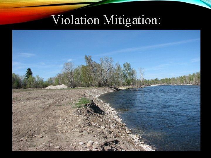 Violation Mitigation: