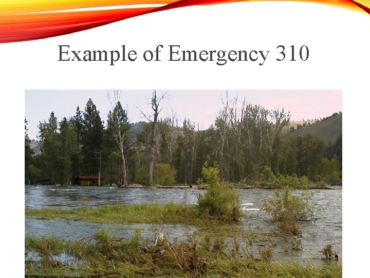 Example of Emergency 310