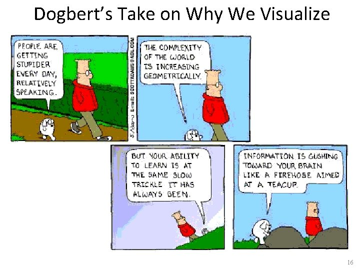 Dogbert's Take on Why We Visualize 16
