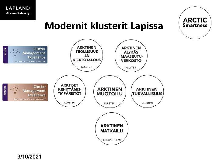 Modernit klusterit Lapissa 3/10/2021