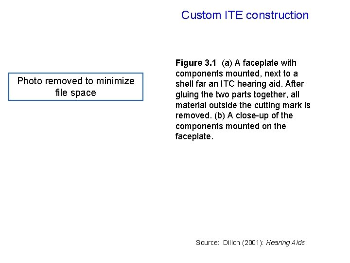 Custom ITE construction Photo removed to minimize file space Figure 3. 1 (a) A