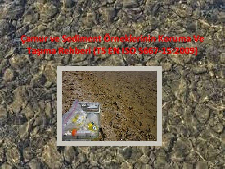 Çamur ve Sediment Örneklerinin Koruma Ve Taşıma Rehberi (TS EN ISO 5667 -15: 2009)