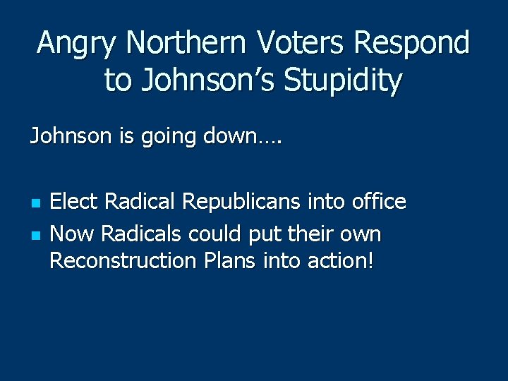 Angry Northern Voters Respond to Johnson's Stupidity Johnson is going down…. n n Elect