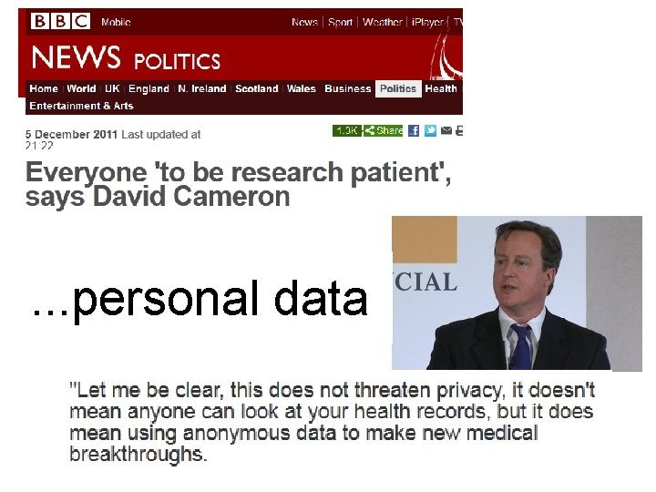 . . . personal data