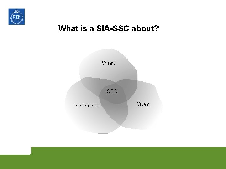 What is a SIA-SSC about? Smart SSC Sustainable Cities