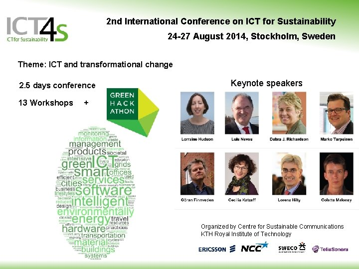 2 nd International Conference on ICT for Sustainability 24 -27 August 2014, Stockholm, Sweden