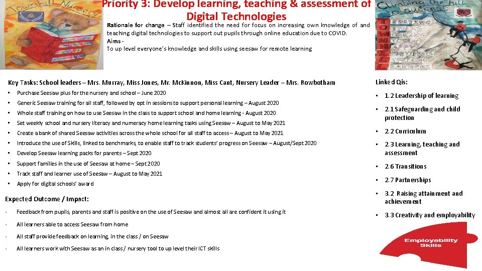 Priority 3: Develop learning, teaching & assessment of Digital Technologies Rationale for change –