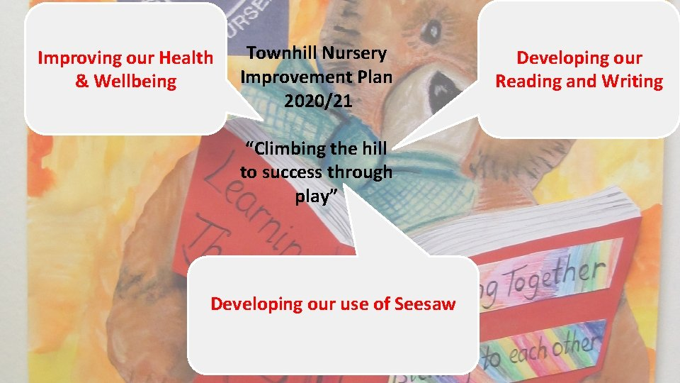 """Improving our Health & Wellbeing Townhill Nursery Improvement Plan 2020/21 """"Climbing the hill to"""