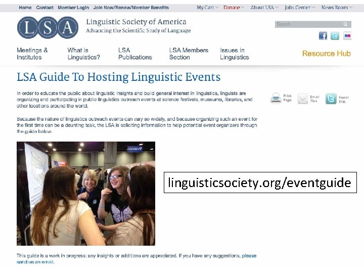 linguisticsociety. org/eventguide
