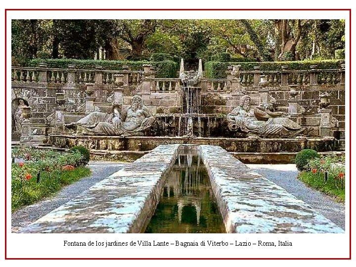 Fontana de los jardines de Villa Lante – Bagnaia di Viterbo – Lazio –