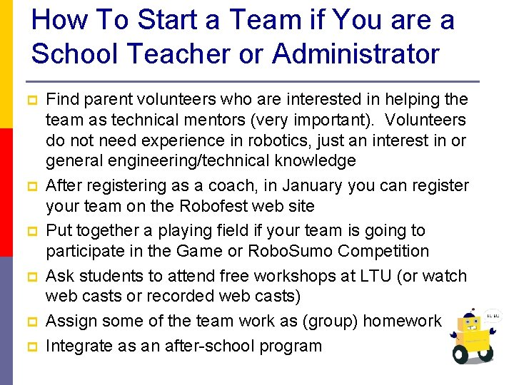 How To Start a Team if You are a School Teacher or Administrator p