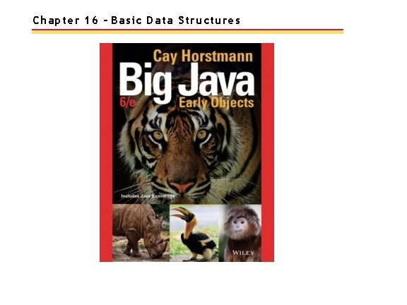 Chapter 16 – Basic Data Structures