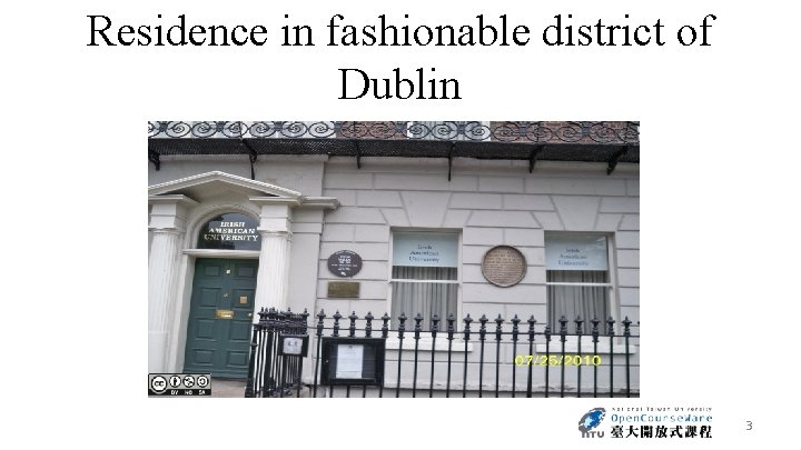 Residence in fashionable district of Dublin 3