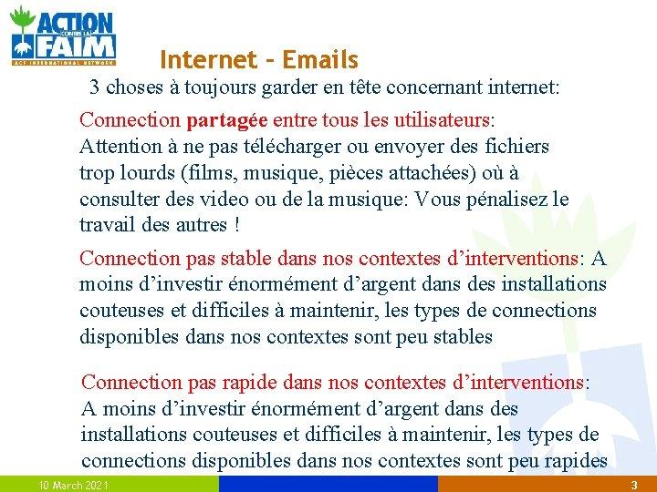 Internet – Emails 3 choses à toujours garder en tête concernant internet: Connection partagée