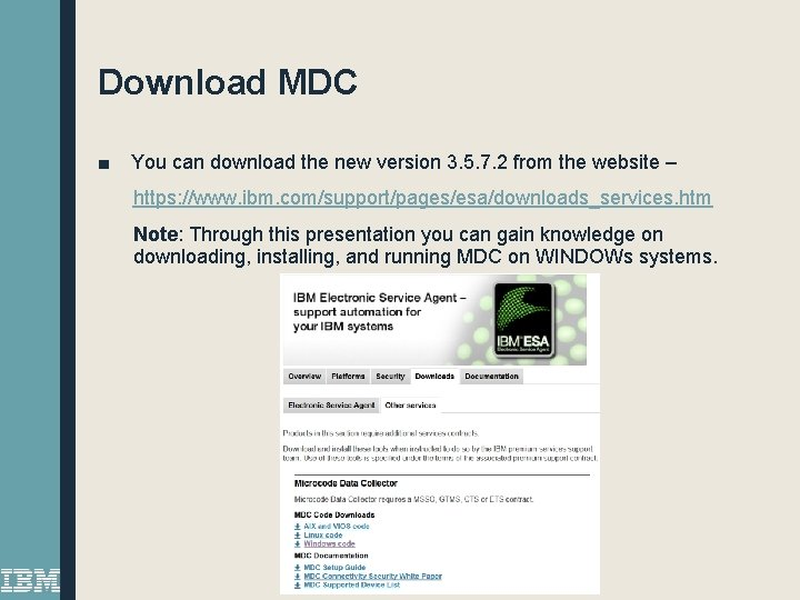 Download MDC ■ You can download the new version 3. 5. 7. 2 from