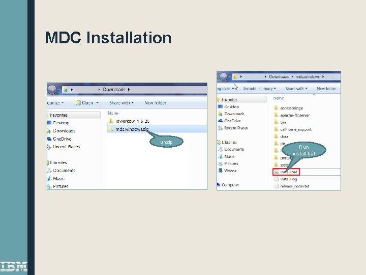 MDC Installation unzip Run install. bat