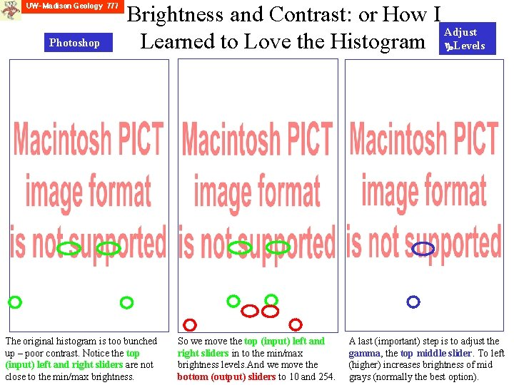 Photoshop Brightness and Contrast: or How I Adjust Learned to Love the Histogram Levels