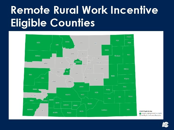 Remote Rural Work Incentive Eligible Counties