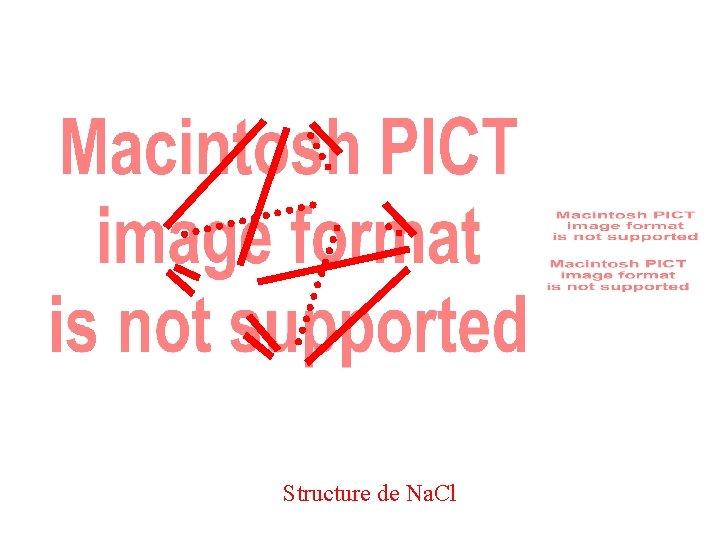Structure de Na. Cl