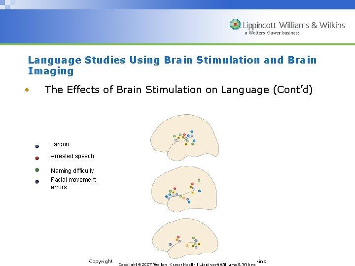 Language Studies Using Brain Stimulation and Brain Imaging • The Effects of Brain Stimulation