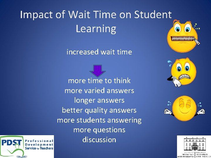 Impact of Wait Time on Student Learning increased wait time more time to think