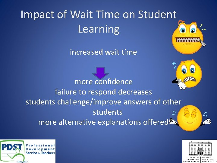 Impact of Wait Time on Student Learning increased wait time more confidence failure to