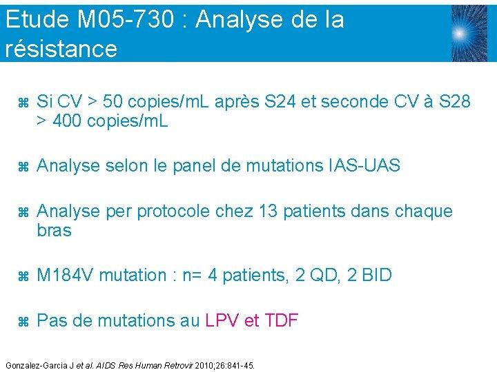 Etude M 05 -730 : Analyse de la résistance z Si CV > 50