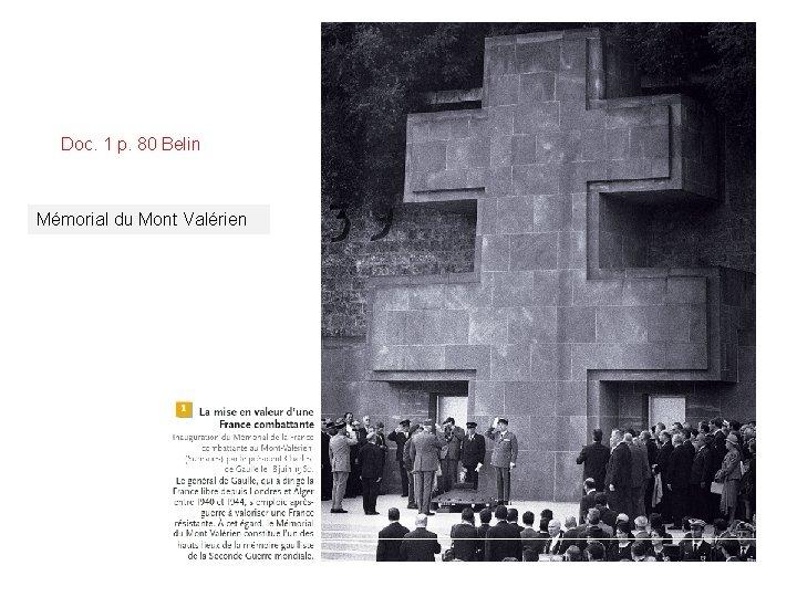Doc. 1 p. 80 Belin Mémorial du Mont Valérien