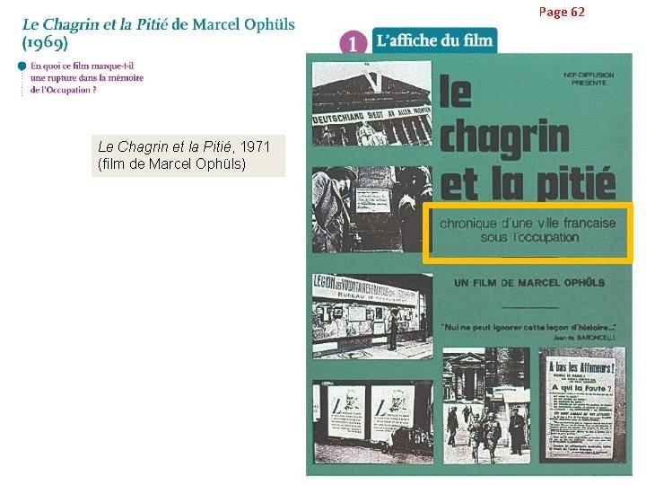 Page 62 Le Chagrin et la Pitié, 1971 (film de Marcel Ophüls)