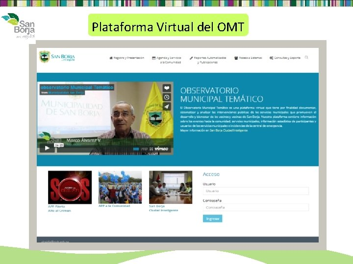 Plataforma Virtual del OMT