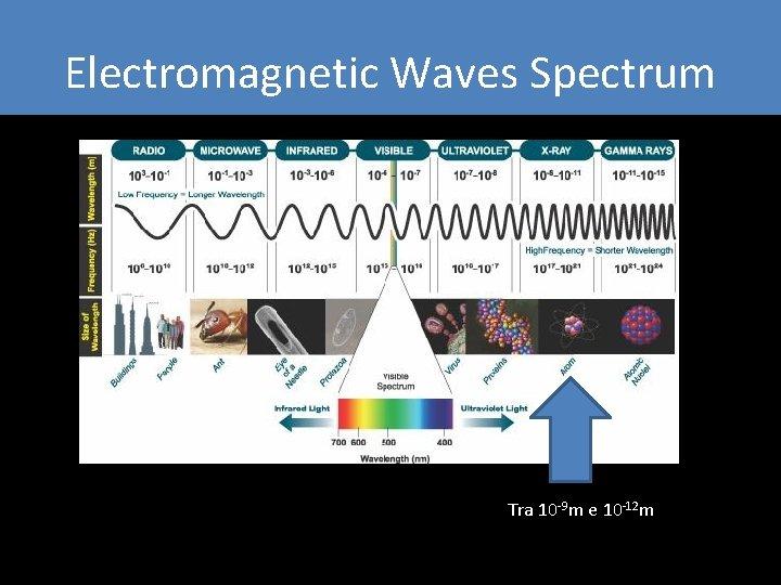 Electromagnetic Waves Spectrum Tra 10 -9 m e 10 -12 m