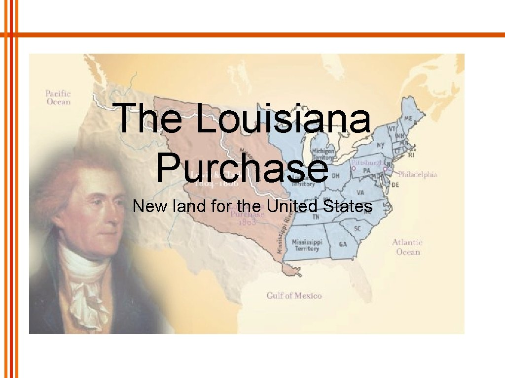 The Louisiana Purchase New land for the United States