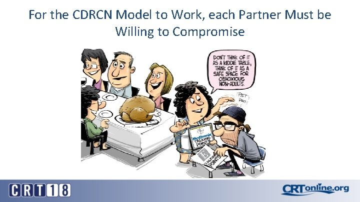For the CDRCN Model to Work, each Partner Must be Willing to Compromise