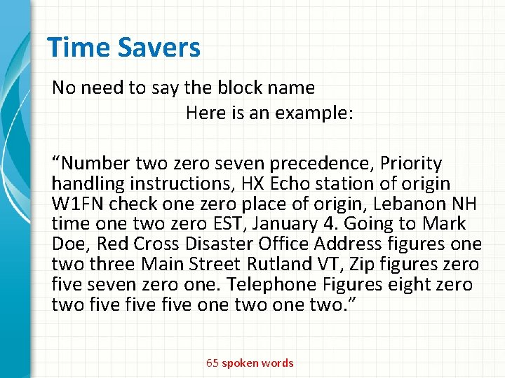 """Time Savers No need to say the block name Here is an example: """"Number"""