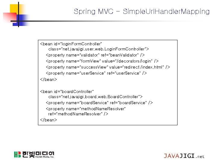 "Spring MVC - Simple. Url. Handler. Mapping <bean id=""login. Form. Controller"" class=""net. javajigi. user."