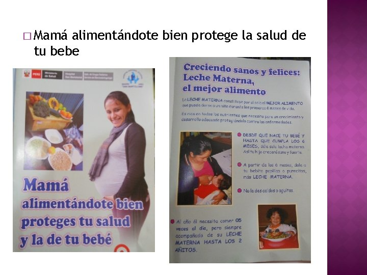 � Mamá alimentándote bien protege la salud de tu bebe