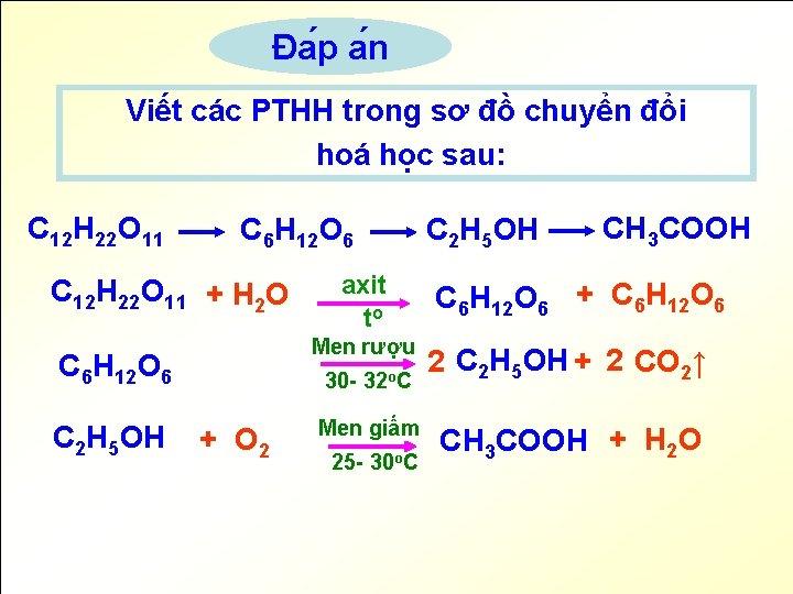 Đa p a n Viết các PTHH trong sơ đồ chuyển đổi hoá học
