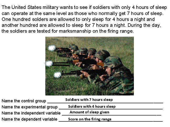 The United States military wants to see if soldiers with only 4 hours of
