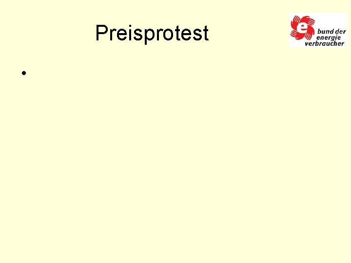 Preisprotest •