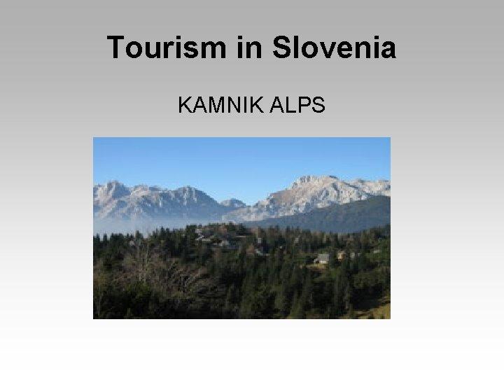 Tourism in Slovenia KAMNIK ALPS