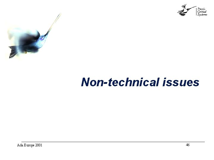 abc Non-technical issues Ada Europe 2001 46