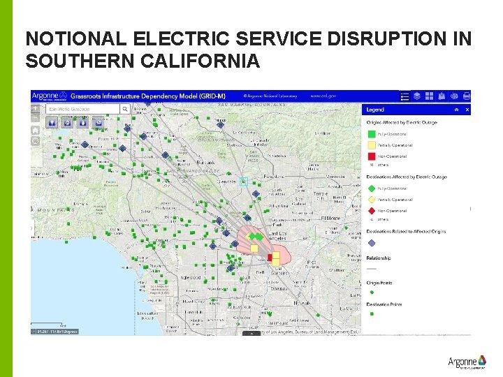 NOTIONAL ELECTRIC SERVICE DISRUPTION IN SOUTHERN CALIFORNIA E EX A L MP