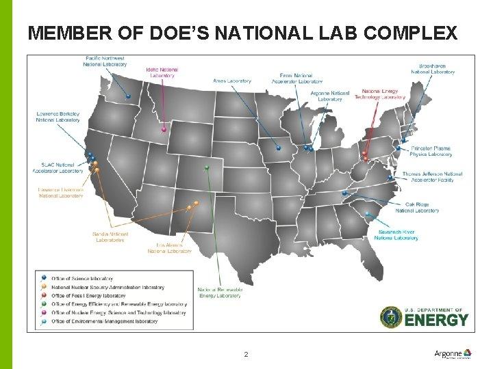 MEMBER OF DOE'S NATIONAL LAB COMPLEX 2
