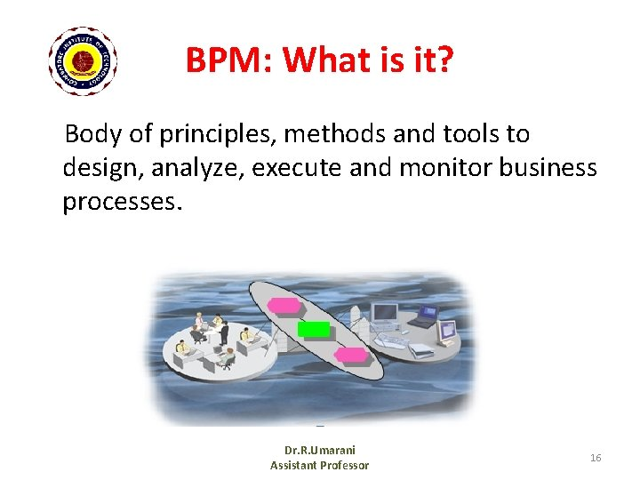 BPM: What is it? Body of principles, methods and tools to design, analyze, execute