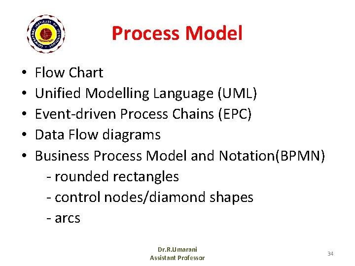 Process Model • • • Flow Chart Unified Modelling Language (UML) Event-driven Process Chains