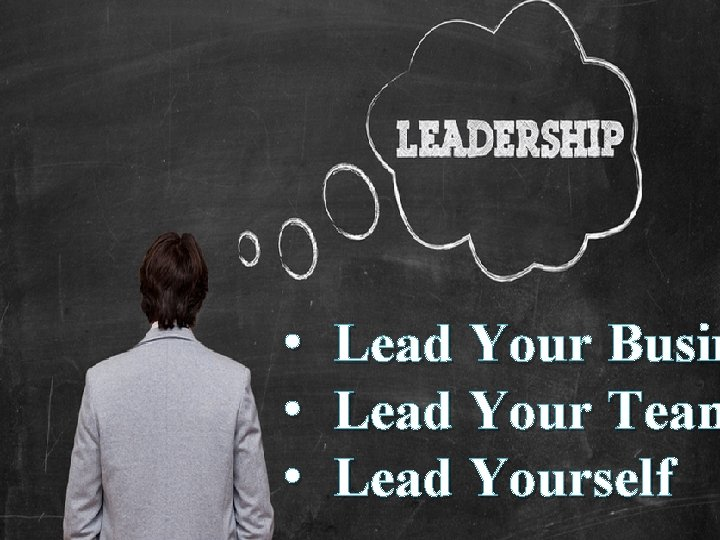 Date 11 • • • Lead Your Busin Lead Your Team Lead Yourself Titre